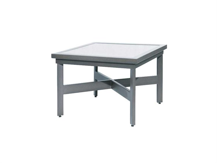 Suncoast Madrid Cast Aluminum 45 39 39 Square Stone Coffee Table Sub2145sq