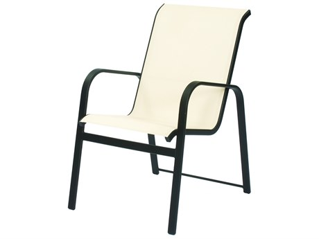 Suncoast Seascape Sling Cast Aluminum Stackable Dining Arm Chair