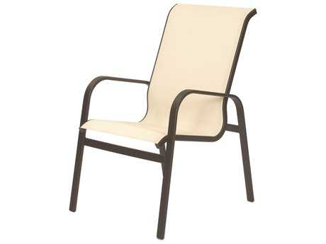 Suncoast Seascape Sling Cast Aluminum Arm Dining Chair