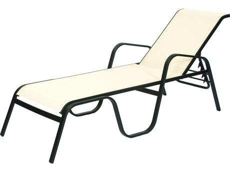 Suncoast Seascape Sling Cast Aluminum Stackable Chaise Lounge