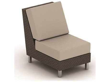 Suncoast Radiate Linear Wicker Cushion Modular Lounge Chair