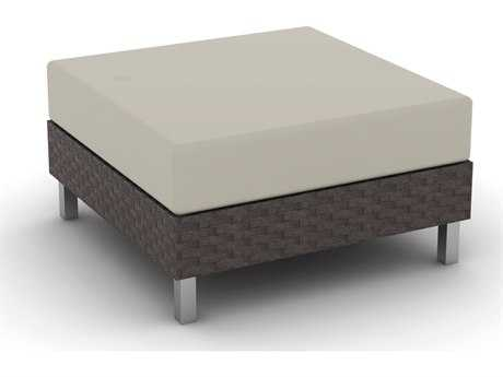 Suncoast Radiate Linear Wicker Cushion Ottoman PatioLiving