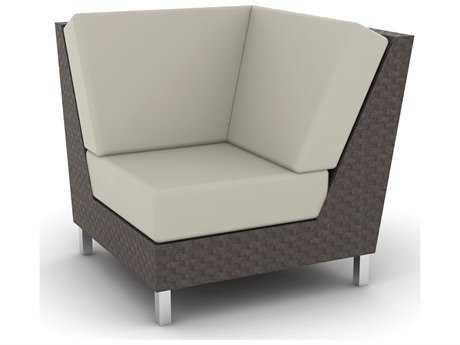 Suncoast Radiate Linear Wicker Corner Sectional Chair
