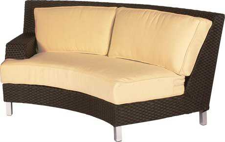 Suncoast Radiate Arc Wicker Cushion Right Arm Loveseat PatioLiving