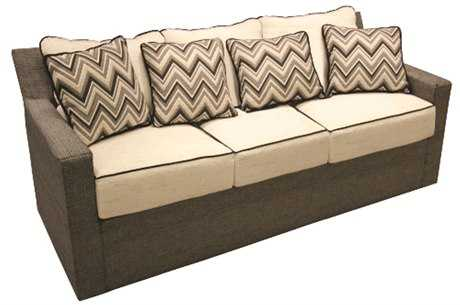 Suncoast Summer Aluminum Cushion Sofa