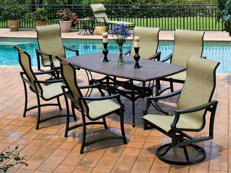 Suncoast Devereaux Sling Cast Aluminum Dining Set