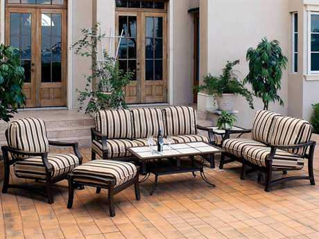 Suncoast Devereaux Cushion Cast Aluminum Lounge Set SUDVRSLS