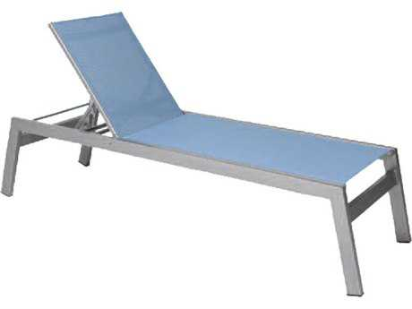 Suncoast Vectra Rise Sling Aluminum Chaise Lounge With Arms