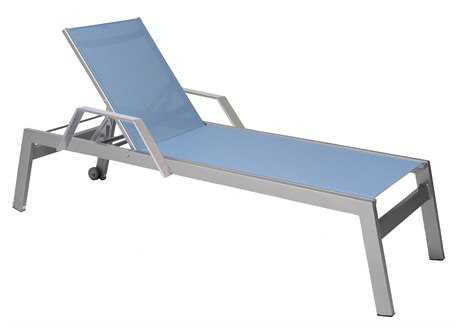 Suncoast Vectra Rise Sling Aluminum Chaise Lounge Arms with Wheels