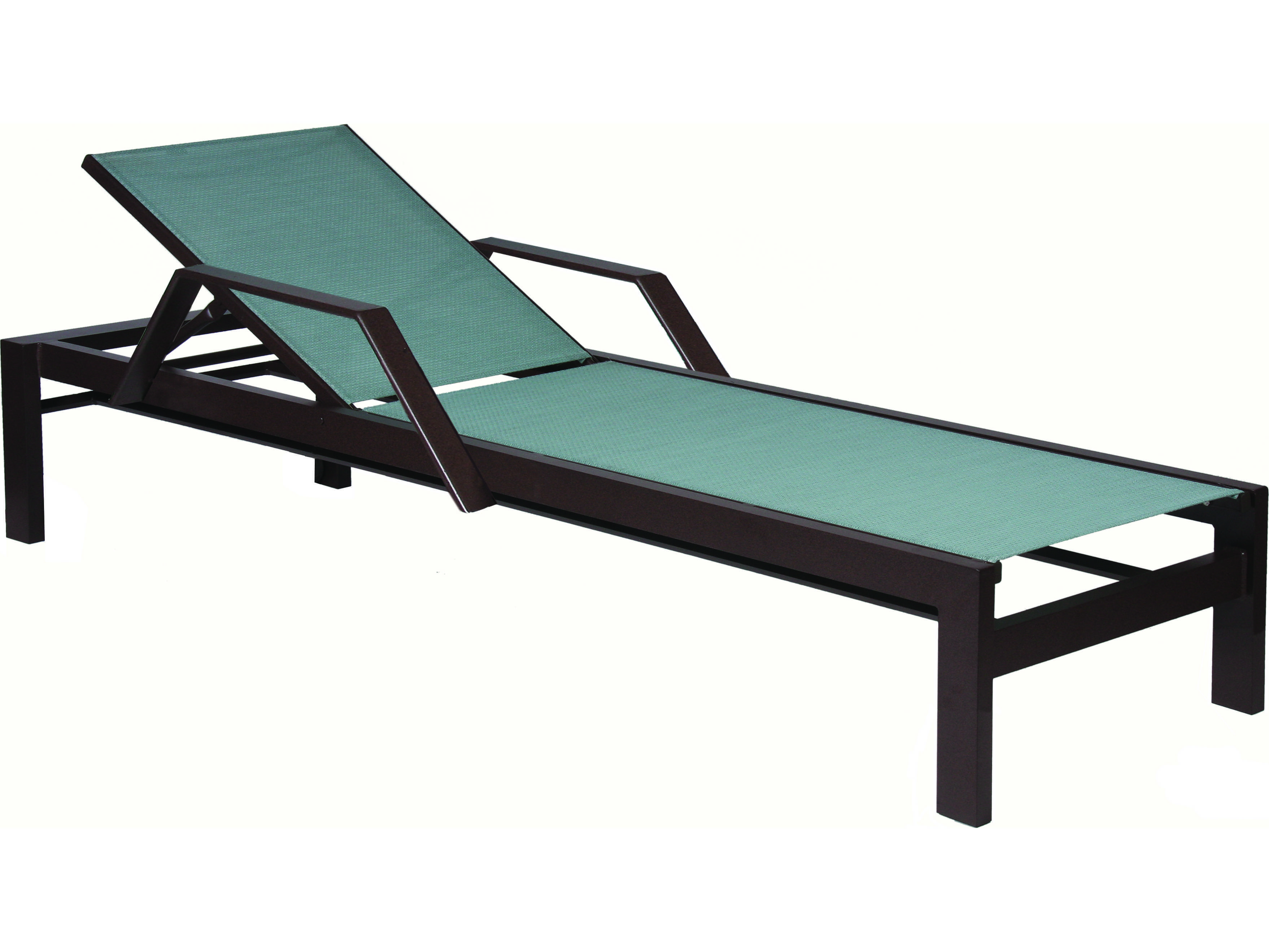 Suncoast vectra bold sling cast aluminum chaise lounge e492 for Cast aluminum chaise