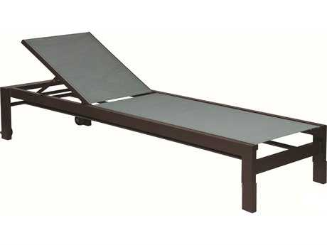 Suncoast Vectra Bold Sling Cast Aluminum Chaise Lounge with Wheels