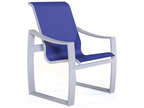 Suncoast Pinnacle Sling Aluminum Hi-Back Dining Arm Chair