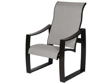 Suncoast Pinnacle Sling Aluminum Arm Dining Chair