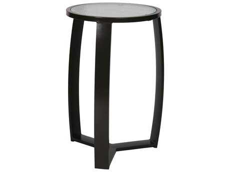 Suncoast Pinnacle Aluminum 20'' Round Glass End Table PatioLiving