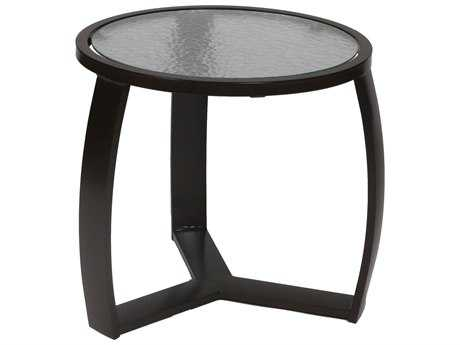 Suncoast Pinnacle Aluminum 22'' Round Glass End Table PatioLiving