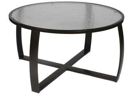 Suncoast Pinnacle Aluminum 44'' Round Glass Coffee Table SUE6T44C