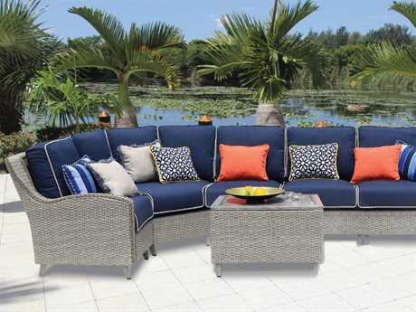 Suncoast Haven Wicker Sectional Set