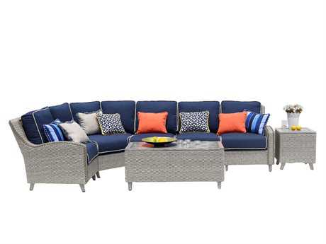 Suncoast Haven Wicker Sectional Lounge Set
