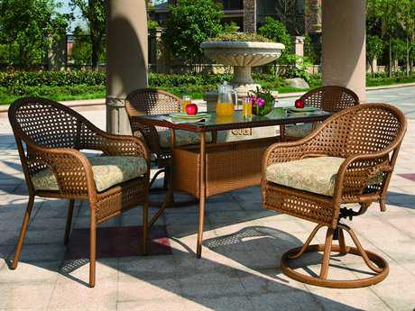 Suncoast Kona Cushion Wicker Dining Set