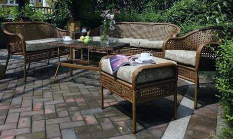 Suncoast Kona Conversation Cushion Wicker Lounge Set SUKONAWR