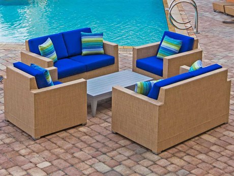 Source Outdoor Furniture Lucaya Wrap Aluminum Lounge Set