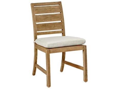 Summer Classics Charleston Teak Dining Side Chair with Cushion