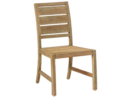 Summer Classics Charleston Natural Teak Dining Side Chair with Cushion