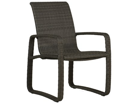 Summer Classics Delray Woven Wicker Slate Grey Dining Arm Chair