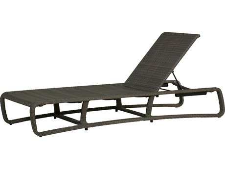 Summer Classics Delray Woven Wicker Slate Grey Chaise Lounge
