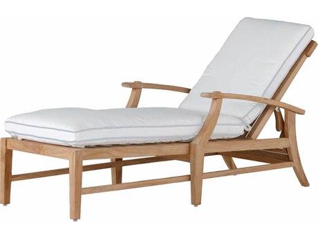 Summer Classics Croquet Teak Chaise Lounge