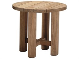 Summer Classics Croquet Natural Teak 24'' Wide Round End Table