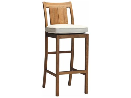 Summer Classics Croquet Teak Bar Stool