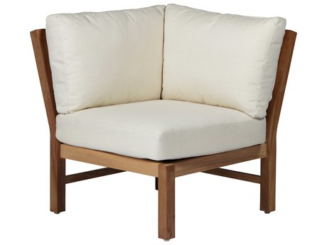 Summer Classics Club Natural Teak Corner Chair with Cushion