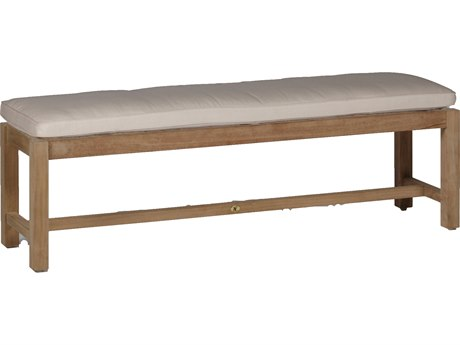 Summer Classics Club Natural Teak Bench with Cushion PatioLiving