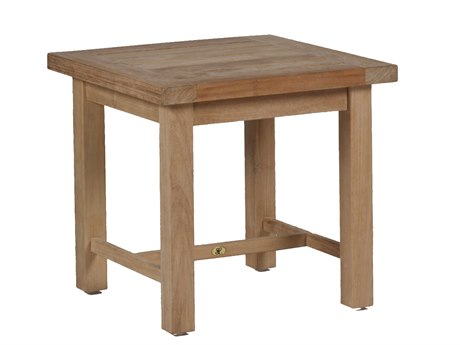 Summer Classics Club Natural Teak 23'' Wide Square End Table