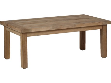 Summer Classics Club Natural Teak 48''W x 27''D Rectangular Coffee Table