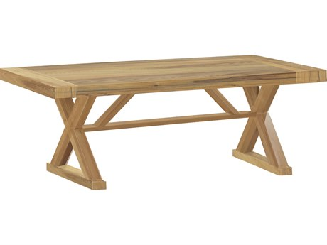 Summer Classics Modena Teak 108''W x 39.5''D Rectangular Dining Table with Umbrella Hole