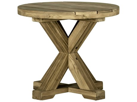 Summer Classics Modena Natural Teak 24'' Wide Round End Table