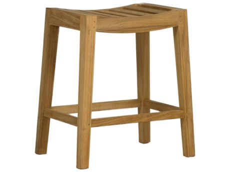 Summer Classics Vivian Natural Teak Counter Stool