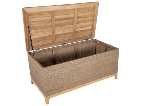 Summer Classics Chesapeake Wicker Medium Storage Box