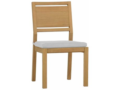 Summer Classics Avondale Natural Teak Dining Arm Chair with Cushion PatioLiving