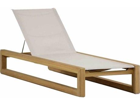 Summer Classics Bali Teak Chaise Lounge