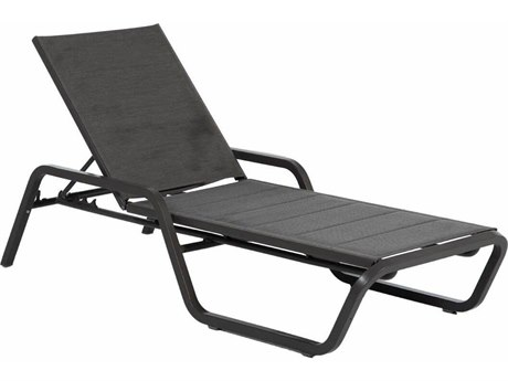 Summer Classics Oscar Wicker Padded Sling Chaise Lounge