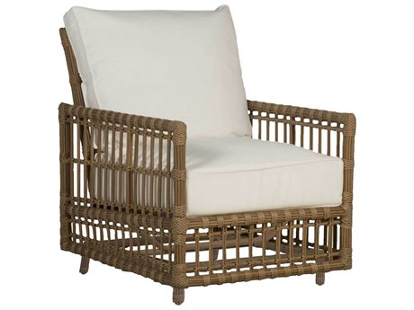 Summer Classics Newport Wicker Spring Lounge Chair