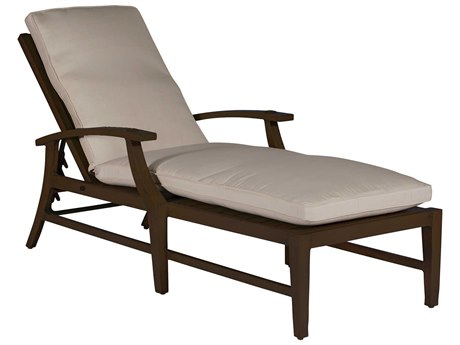 Summer Classics Croquet Aluminum Mahogany Chaise Lounge with Cushion
