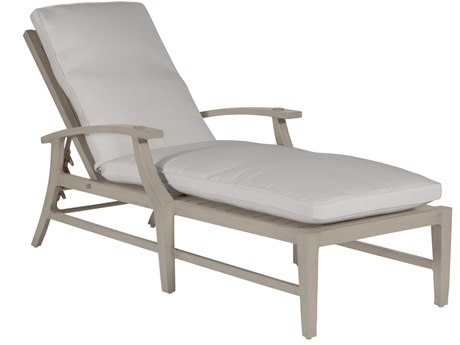 Summer Classics Croquet Aluminum Oyster Chaise Lounge with Cushion