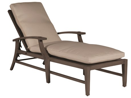 Summer Classics Croquet Aluminum Slate Grey Chaise Lounge with Cushion
