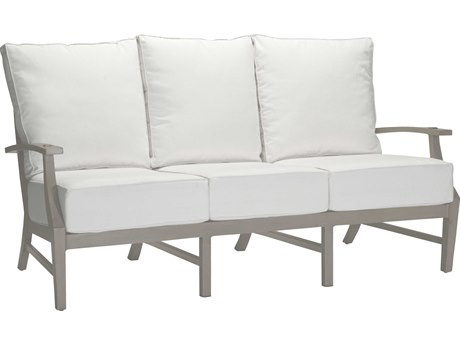 Summer Classics Croquet Aluminum Oyster Sofa with Cushion