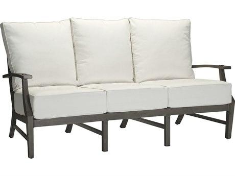 Summer Classics Croquet Aluminum Slate Grey Sofa with Cushion
