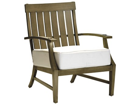 Summer Classics Croquet Aluminum Lounge Chair with Cushion